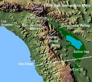 southern california mountain ranges map coachella valley