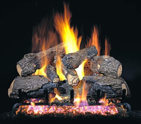 How To Light A Gas Log Fireplace by Real Fyre 18 Quot Charred Northern Oak Vented Gas Logs