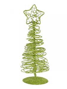 lime green spiral wire tree table top ornament 15cm