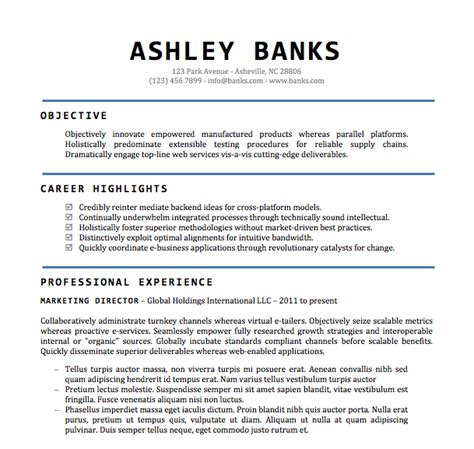 Resume Format Doc File Free word document resume template learnhowtoloseweight net
