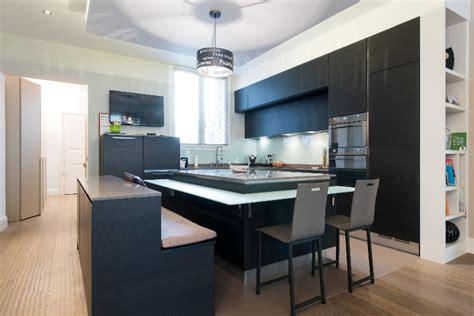cuisine design avec 238 lot central les bains et cuisines d finest suprieur cuisine ouverte avec ilot central cuisine