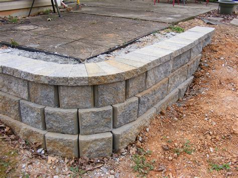 retaining wall lights cap how to build a simple retaining wall