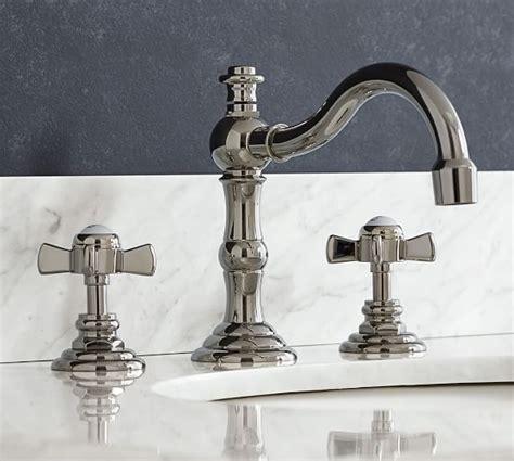 langford cross handle widespread bathroom faucet pottery barn