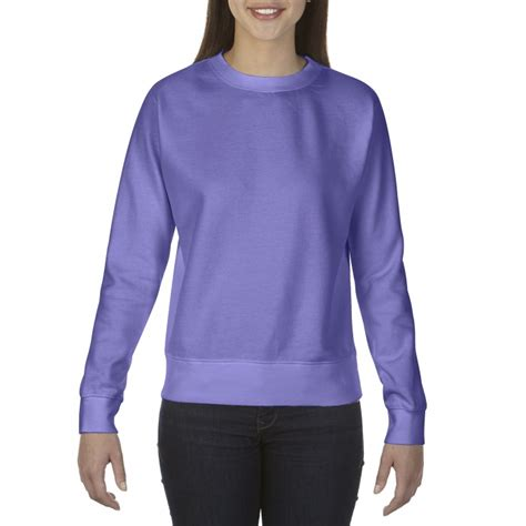 gildan comfort colors cc1596 comfort colors ladies crewneck sweatshirt violet