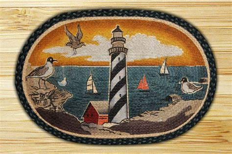 Lighthouse Rugs by Oval Patch New Lighthouse Braided Earth Rug 174