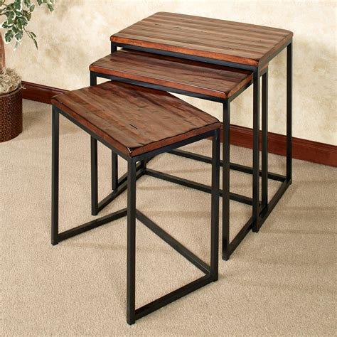 Rustic Nesting Tables by Nelson Rustic Nesting Table Set