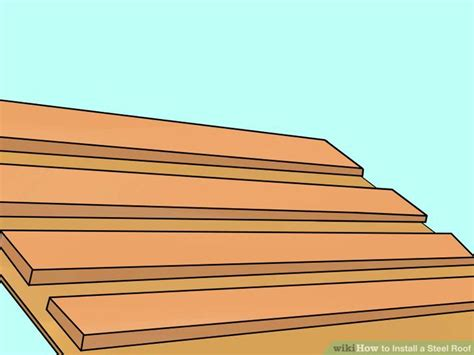 install  steel roof  steps  pictures