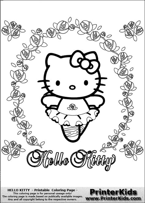 hello kitty with flowers coloring pages hello kitty ballerina coloring page flower coloring page