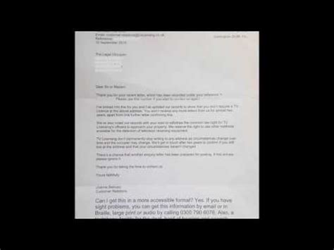 Withdrawal Letter Of Access Tv Licensing S Response Letter Withdrawal Of Implied Right Of Access Woira