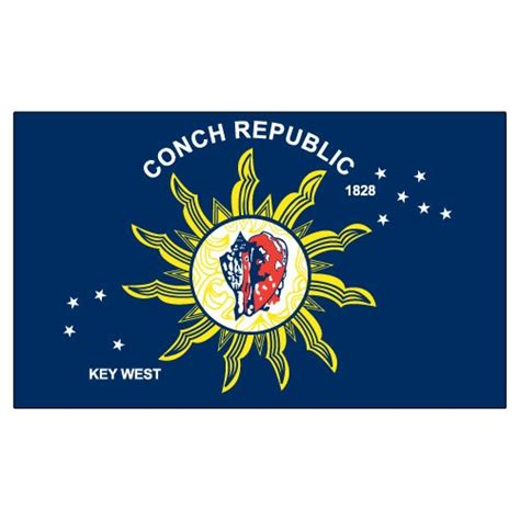 couch republic conch republic 3ft x 5ft printed polyester flag