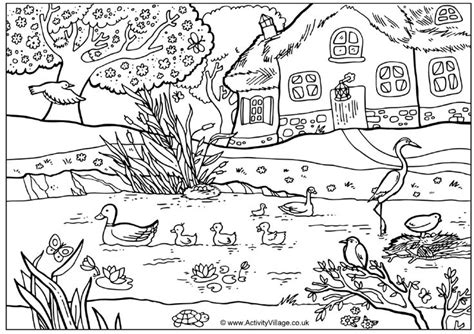 coloring pages of ducks in a pond ducks on a pond adult coloring pages pinterest