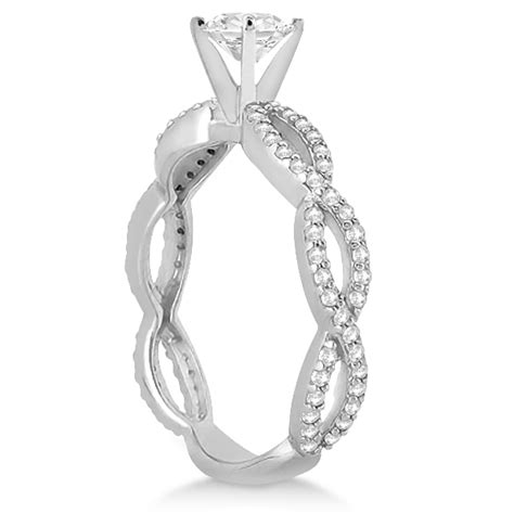 pave infinity eternity engagement ring platinum