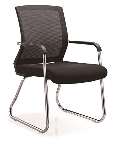 fixed armrest china ergonomic office mesh visitor chair  meeting conference desk  wheels