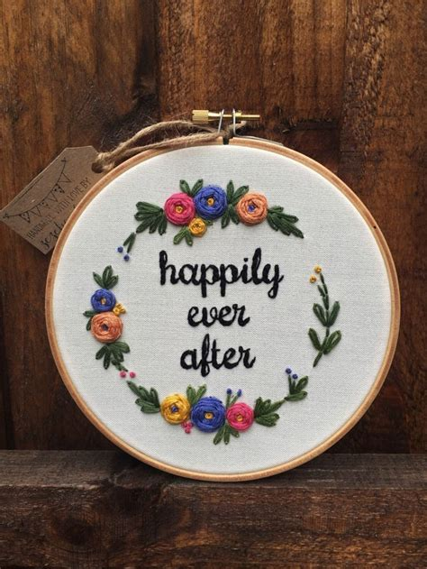 embroidery gifts floral embroidery personalized gift embroidery hoop