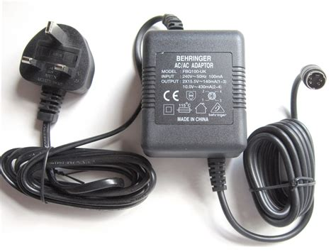 Behringer Psu10 Eu Replacement Power Supply For Dsp110 Fbq100 behringer psu10 uk fbq100 uk power supply for shark dsp110 and fbq100 new ebay