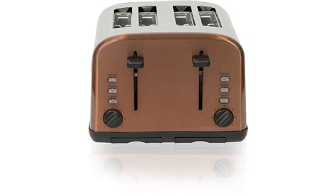 Copper Colored Toaster George Home 4 Slice Toaster With Black Controls Various