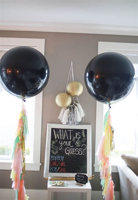 themes in black balloon kara s party ideas boho inspired twins gender reveal party