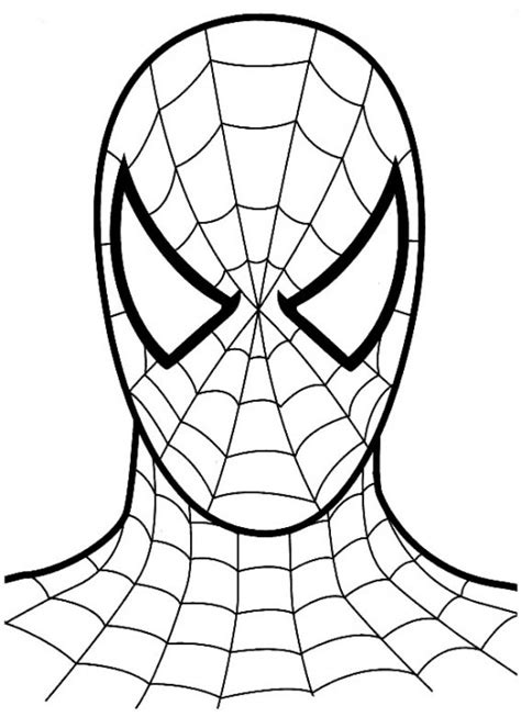 simple spiderman coloring page easy spiderman coloring pages cartoon coloring pages of