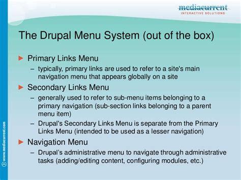 drupal theme links system main menu theming drupal menus