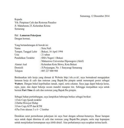 Lamaran Kerja Docx by Contoh Surat Dinas Docx Contoh Its