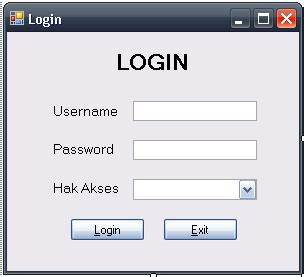 membuat form login multi user dengan vb membuat login multiple user di vb net bag 1 catatan