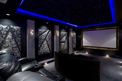 Design Modern Home Theater Home Theater Contemporary Home Theater By Chris Jovanelly Interior Design