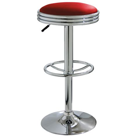 Where To Get Bar Stools Amerihome Retro Style Soda Cap Shaped Swivel Bar Stool