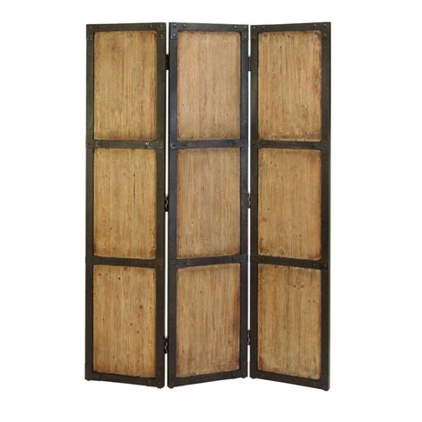 Home Decorators Collection 5 92 Ft Natural 3 Panel Room Panel Room Dividers