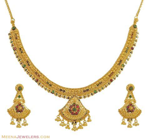 gold necklace set 22 karat stgo9945 22k gold