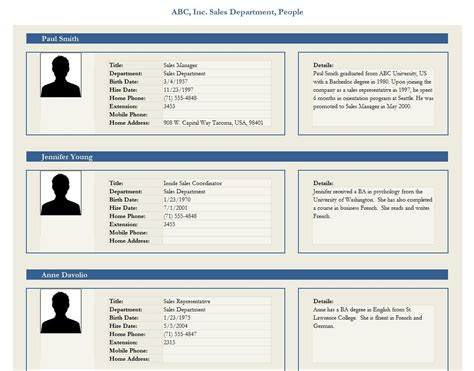 Profile Template employee profile template employee profile form template