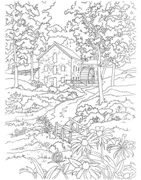 water mill coloring page best 25 country scenes ideas on pinterest farm pictures