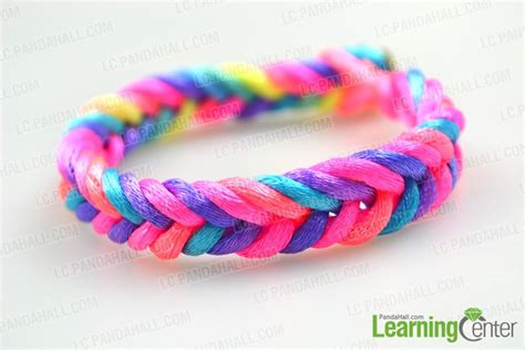 how to make easy rainbow string bracelet quickly in five