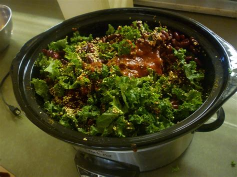 kale quinoa in crockpot take back the kitchen