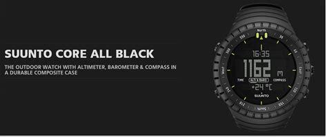 Suunto All Black Original suunto outdoor sports altimeter barometer compass all black ebay