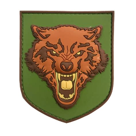 Patch Rubber Patch My Ak wolf colour tactical rubber patch
