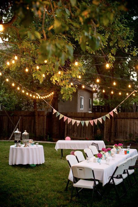 backyard birthday fun pink hydrangeas polka dot napkins