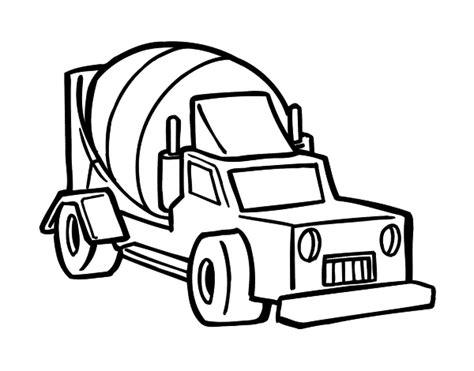 cement mixer truck coloring page coloringcrew com
