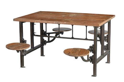 industrie chic massivholz esstisch industrial look industriell mit sitzen