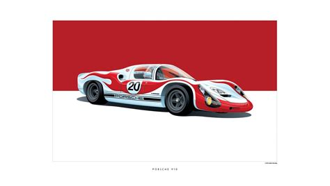 porsche racing poster iconic racing car posters by arthur schening