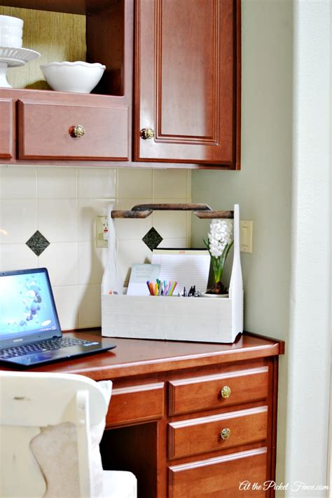 It S Ok To Start Small At The Picket Fence Kitchen Desk Organization