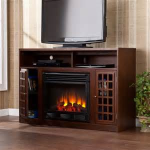 furniture charming tv stand with electric fireplace for