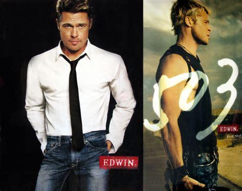 brad pitt jeans commercial japan brad pitt edwin jeans ad popsugar celebrity