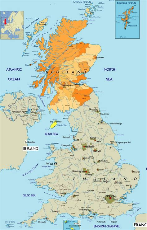map in uk maps of regions of scotland and its cities glasgow