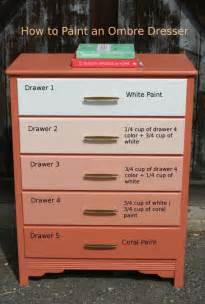 how to paint an ombre dresser funcycled