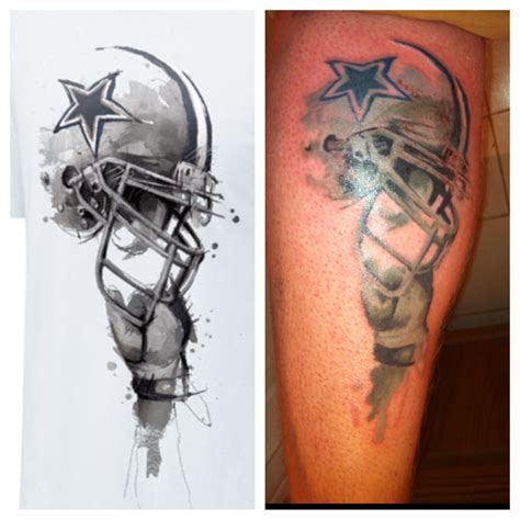 football helmet tattoo designs my dallas cowboys that s pretty freakin cool