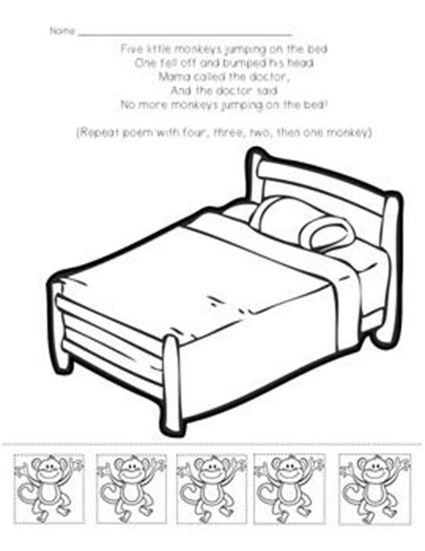 coloring pages monkeys jumping bed 5 little monkeys coloring page black and white coloring pages