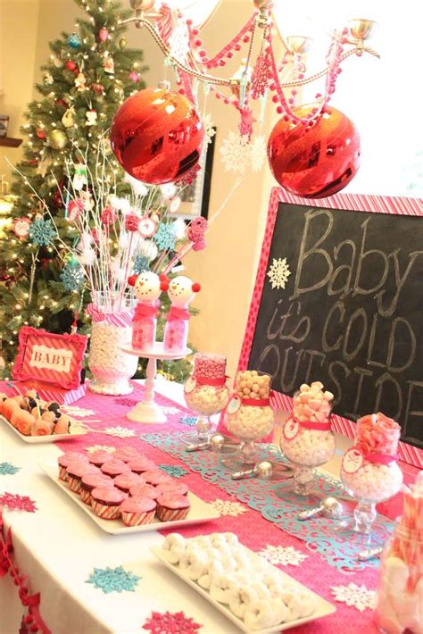 winter wonderland snowflake baby shower party ideas photo    catch  party