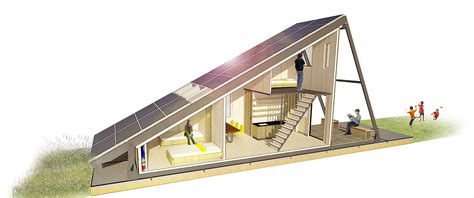 solar cabin modular refugee housing with an energy