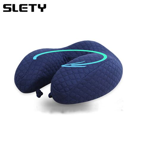 Travel Pillow Memory Foam Compact by Memory Foam Neck Pillow Air Soft Comfortable Travel Pillow