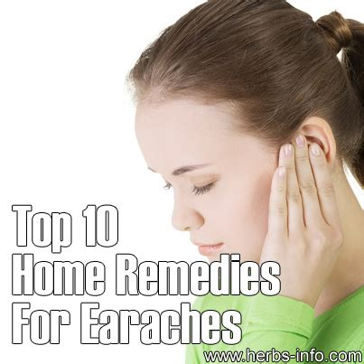 top 10 home remedies for earaches herbs info